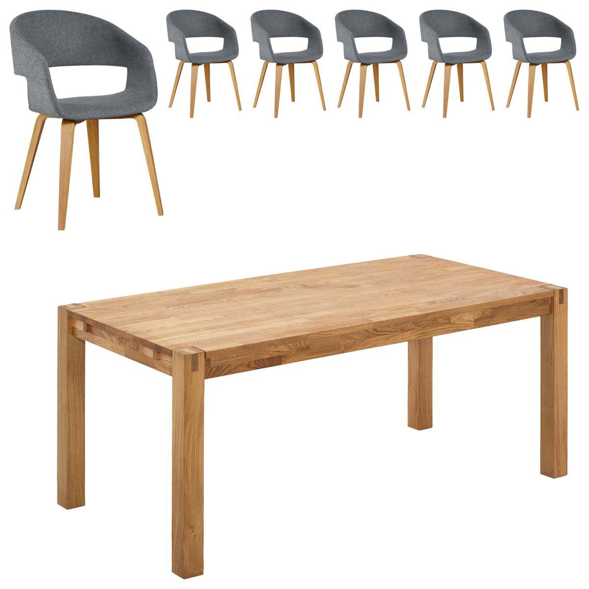 Essgruppe Silkeborg/Holstebro (90x180, 6 Stühle, anthrazit) Jetzt ...