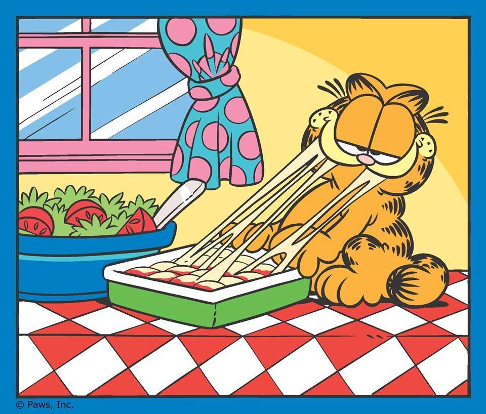 Happy National Lasagna Day Garfield Cartoon Garfield And Odie Cartoon Tv Shows
