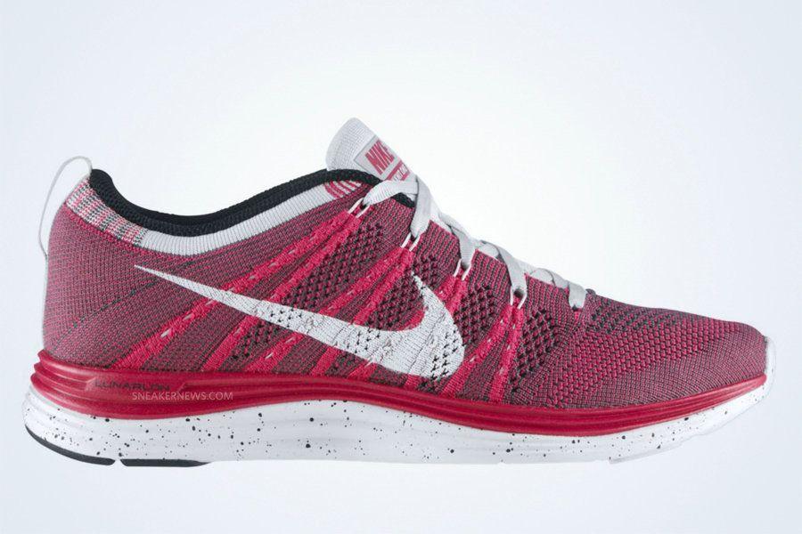 more photos 5335e adab5 Nike Flyknit One+ Fireberry White Dark Grey Pure Platinum 554888 610