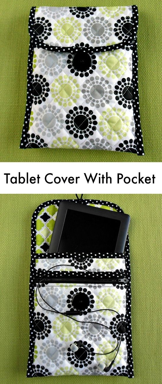 Zippered Book Cover Pattern Free : Sew a quilted tablet cover with zippered pocket free