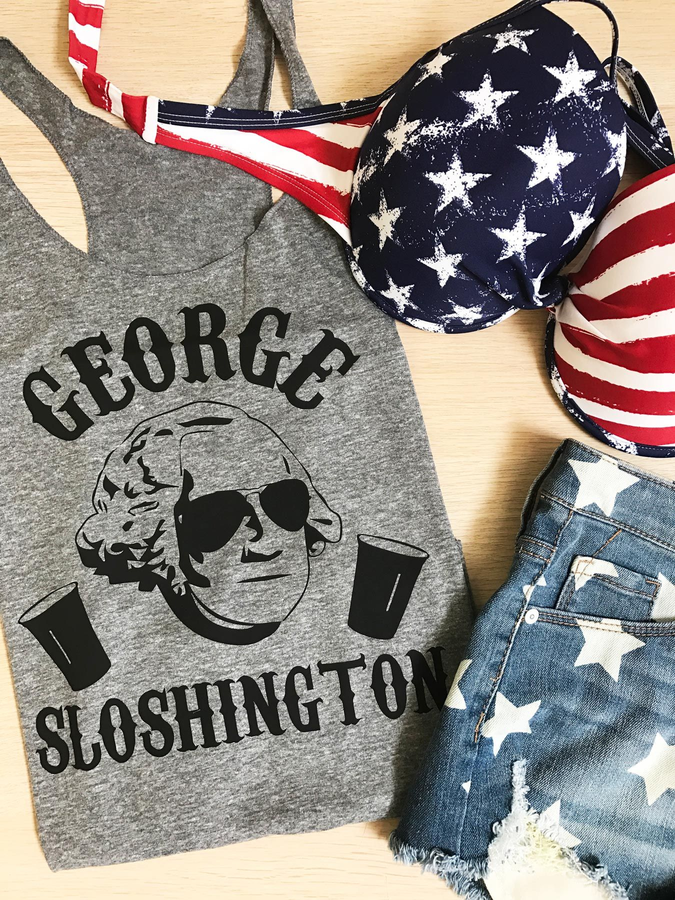 4dbf9a6ebb128 Celebrate 4th of July like a Legend! Get your GEORGE SLOSHINGTON tank by NoBull  Woman