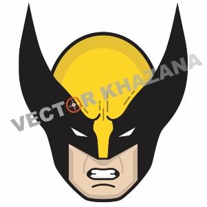 Face Wolverine Logo Vector Vector Logo Wolverine Vector