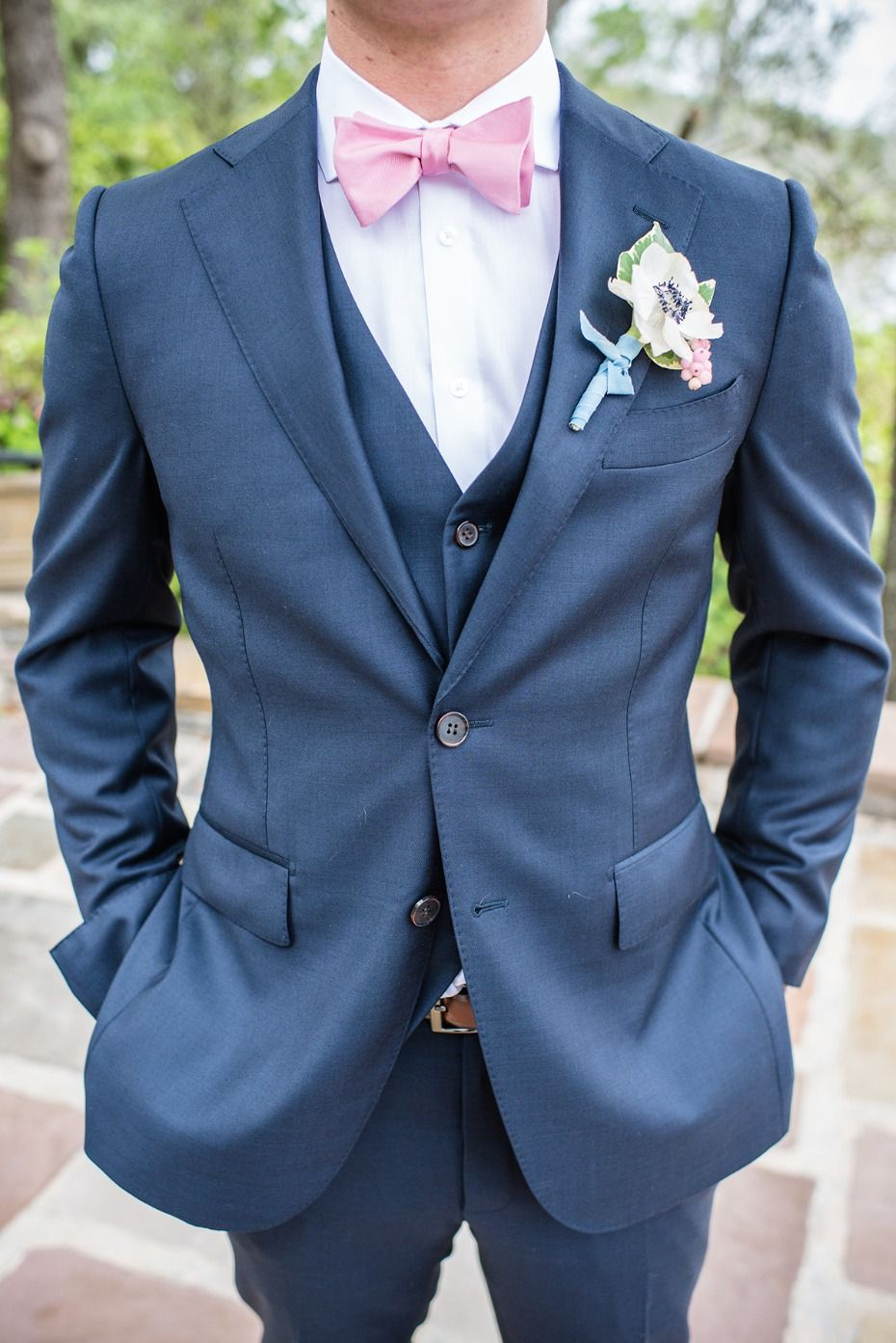 How To Have The Perfect Pastel Summer Wedding | Navy groom suits ...