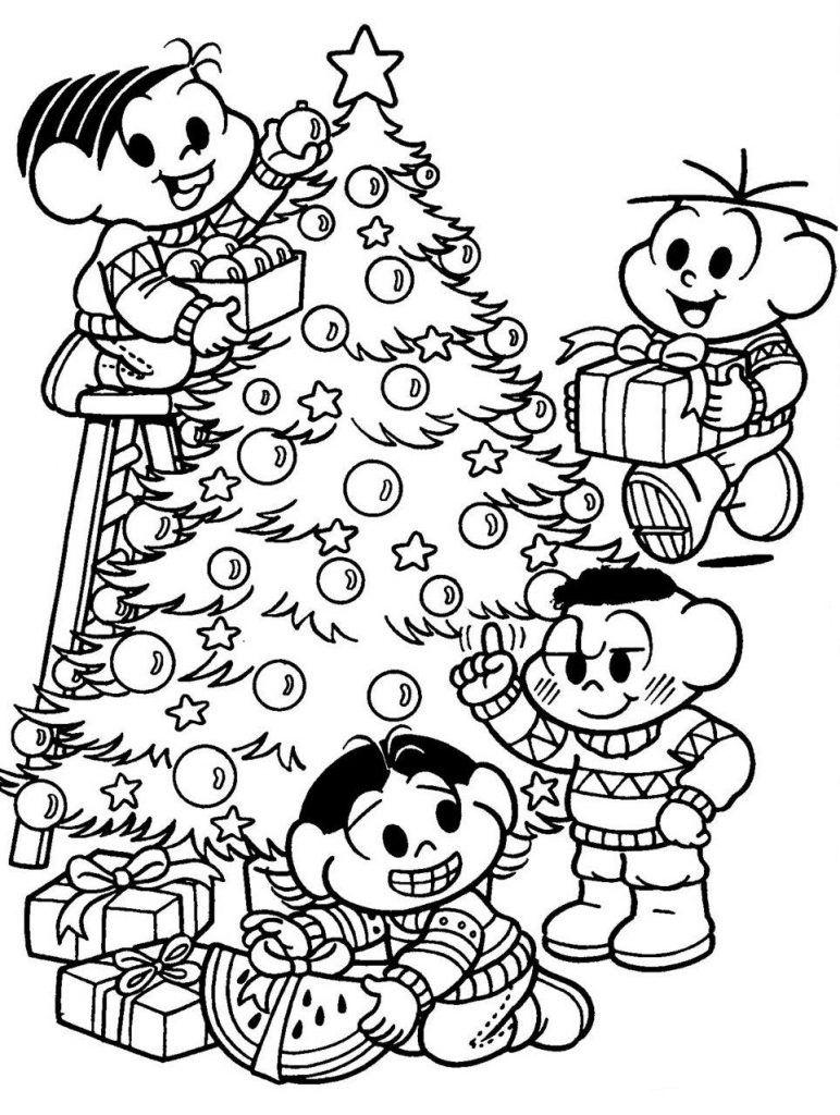 Desenhos Para Colorir Natal Presentes Turma Da Monica Com Imagens