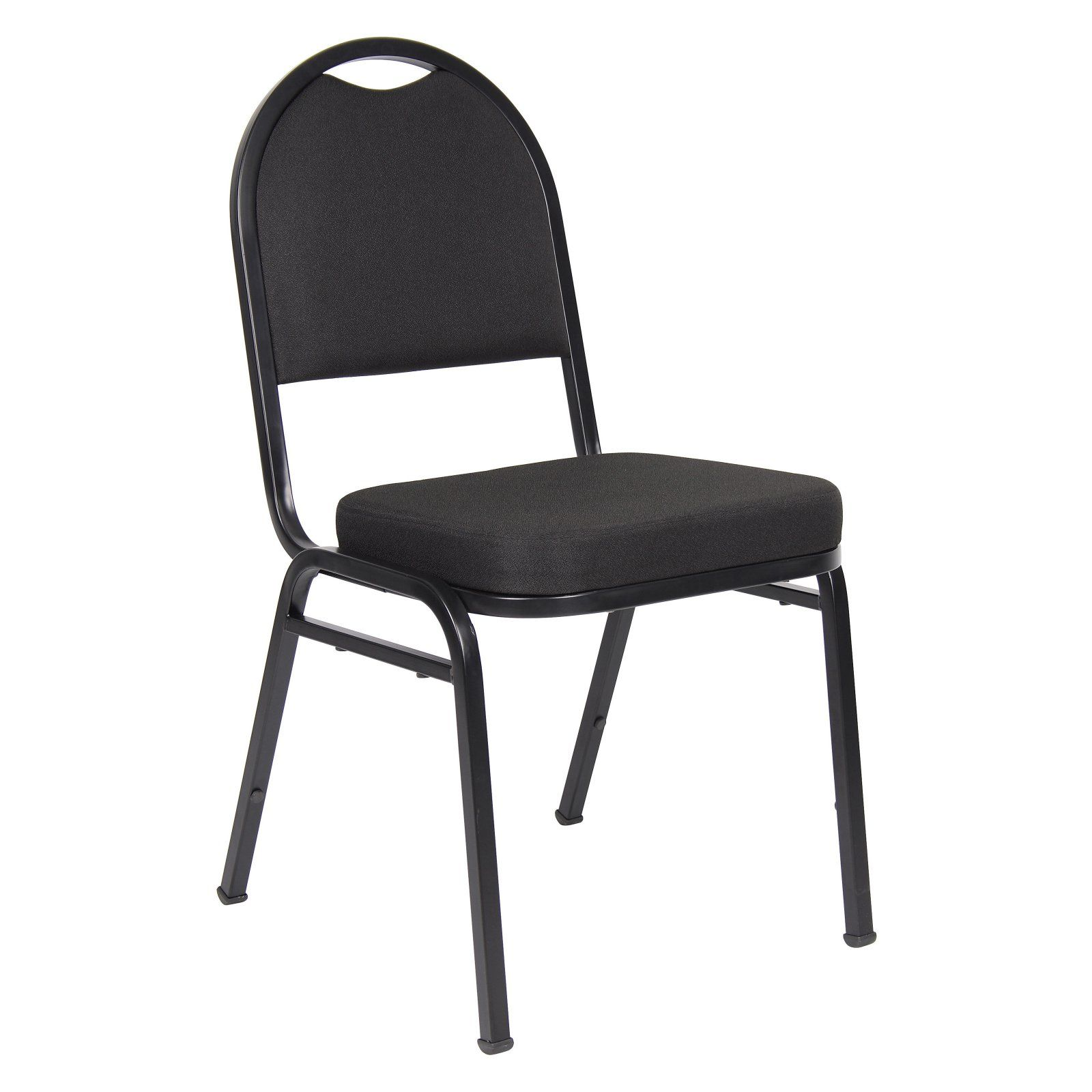 Boss Black Crepe Banquet Chair Guest Chair Chair Stacking