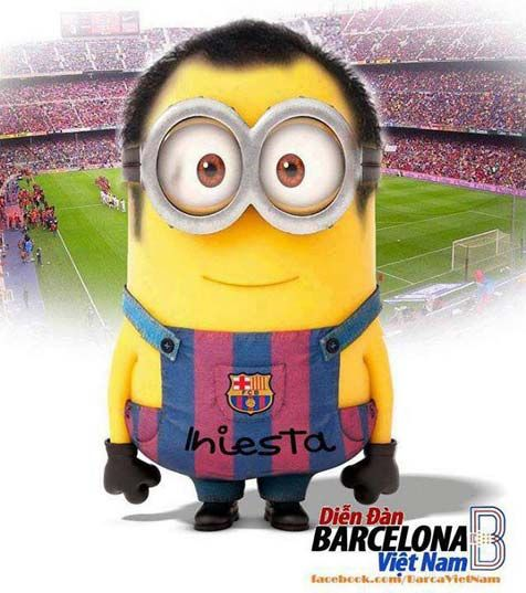 Andres Iniesta Minions