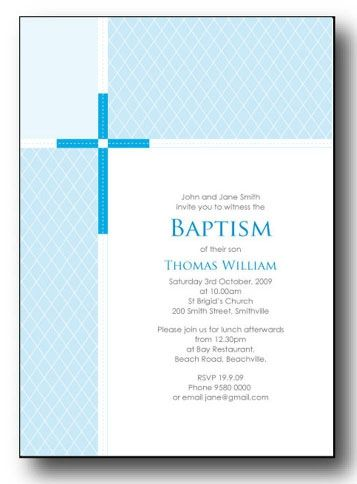 Free Printable Christening Invitations Templates Invitation Card