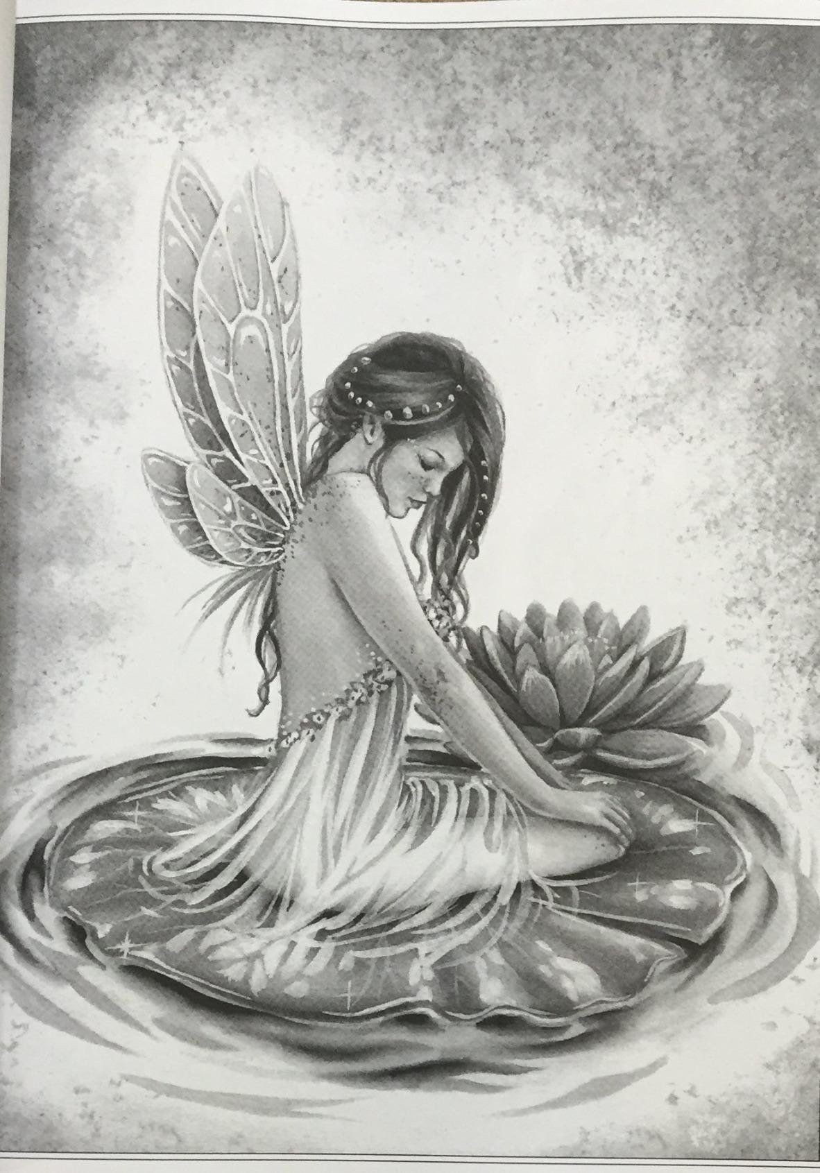 AmazonSmile: Fairy Art - Grayscale Coloring Edition ...
