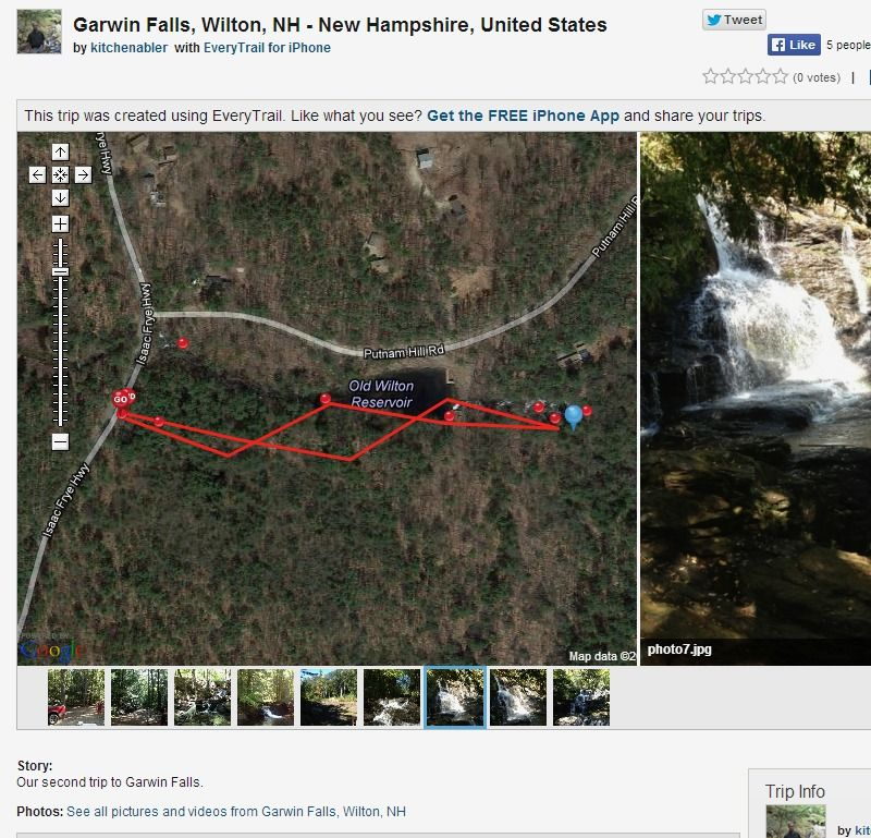 Garwin Falls, Wilton, NH - Hiking trip | EveryTrail | Local | Fall