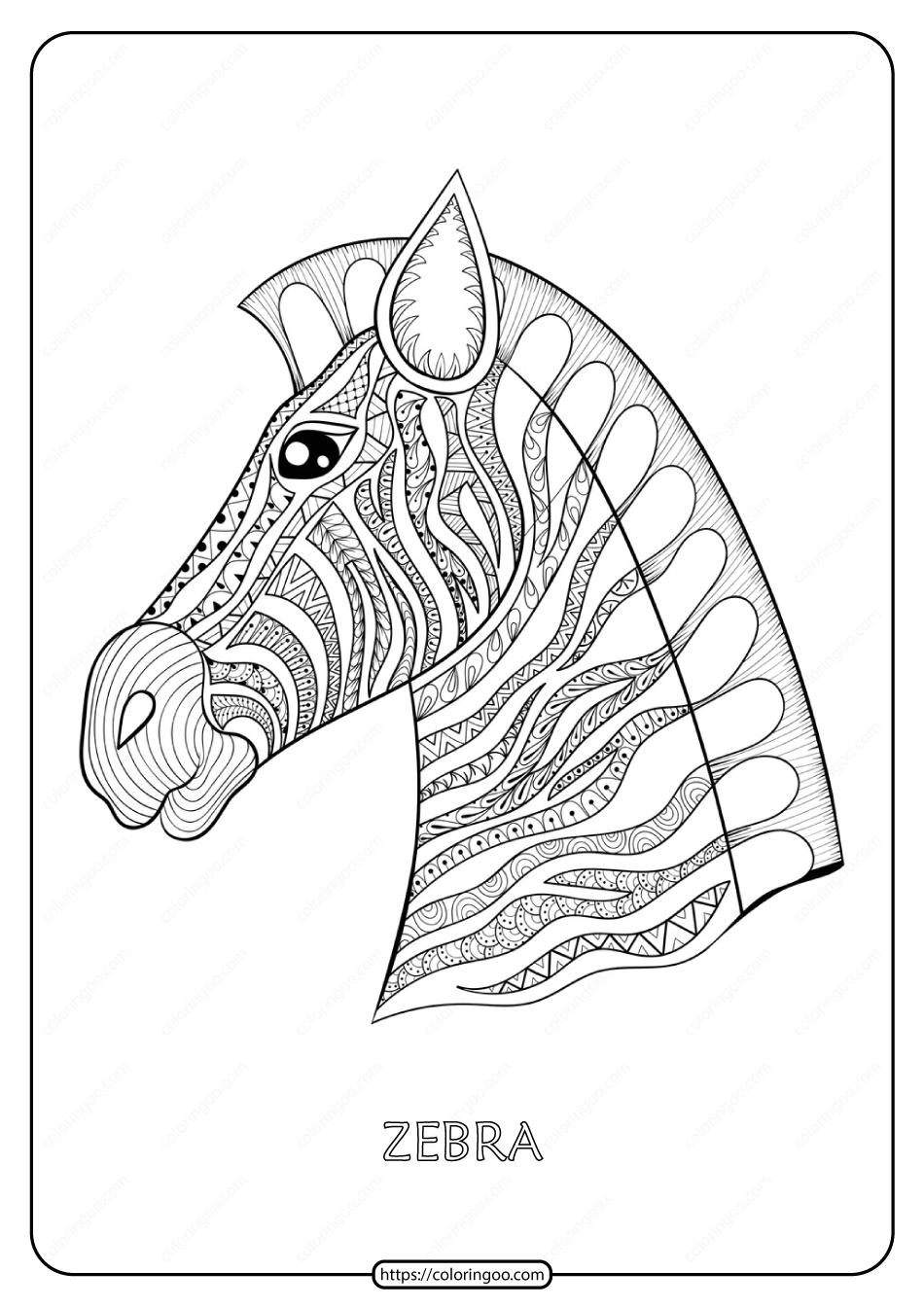 Free Printable Zebra Mandala Coloring Page Mandala Coloring Pages Mandala Coloring Coloring Pages