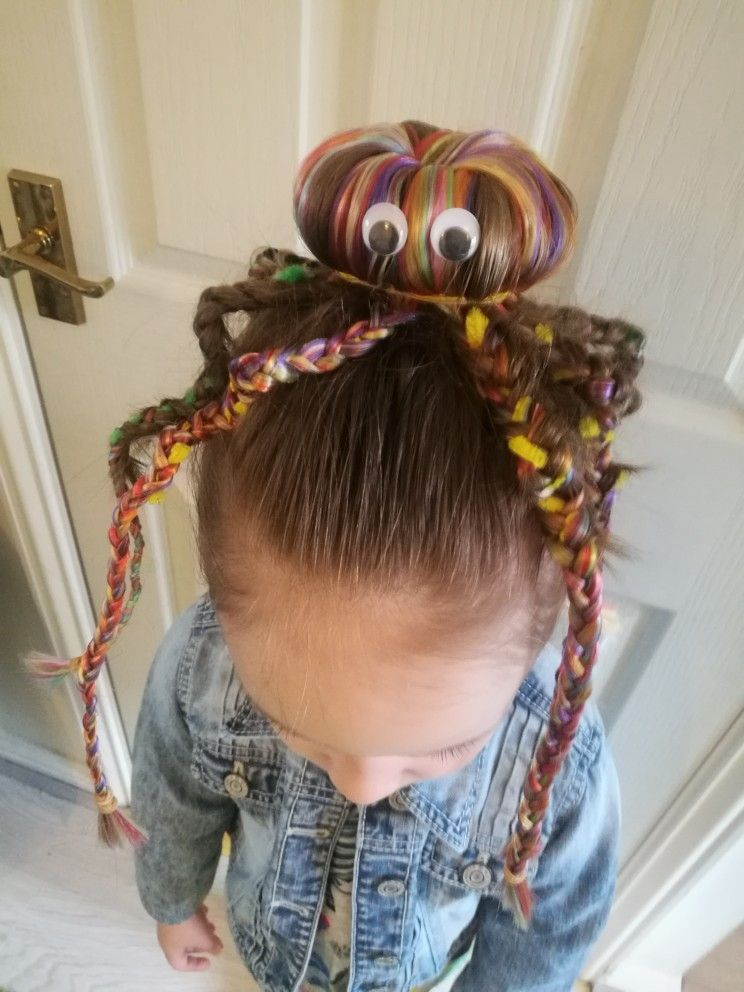 Octopus hair #crazyhairdayatschoolforgirlseasy Octopus hair #crazyhairdayatschoolforgirlseasy ...
