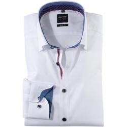 Photo of Olymp Level Five shirt, body fit, under-button-down, white, 45 Olymp