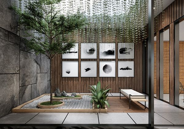 Modern Minimalist Indoor Garden On Behance Indoor Garden Minimalist Garden Patio Interior