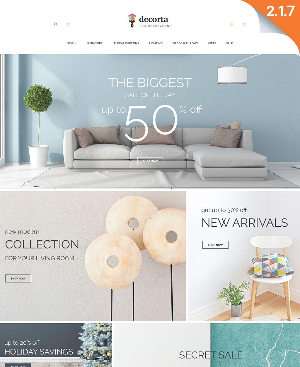 Decorta Home Deco Responsive Magento 2 Theme Home Decor
