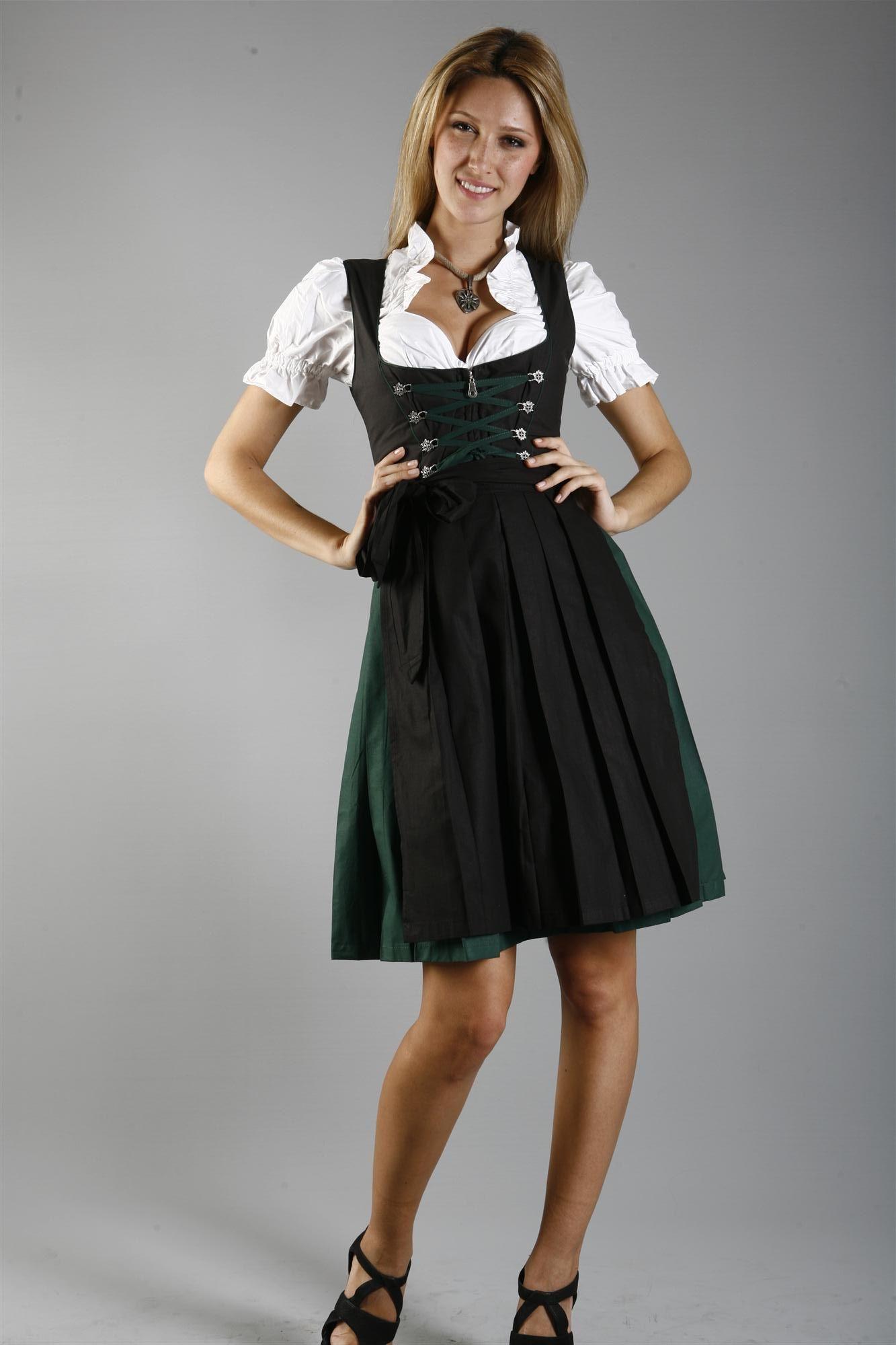 3-piece black dirndl with dark green skirt - Dirndl.com ... 0f5e6193c4