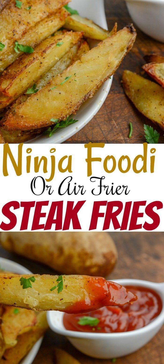 Ninja Foodi or Air Fryer Steak Fries Recipe Food