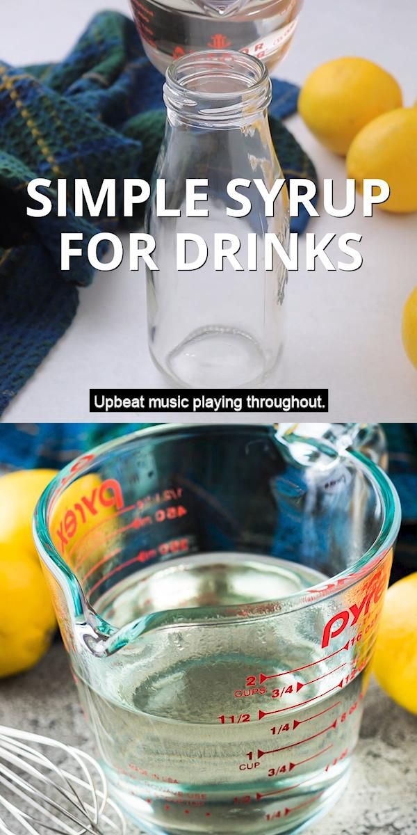 Simple Syrup for Drinks