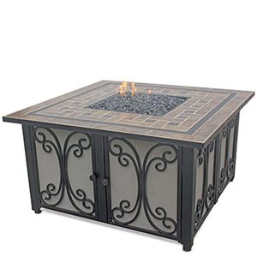 Blue rhino uniflame gadm lp gas outdoor fireplace u the fire