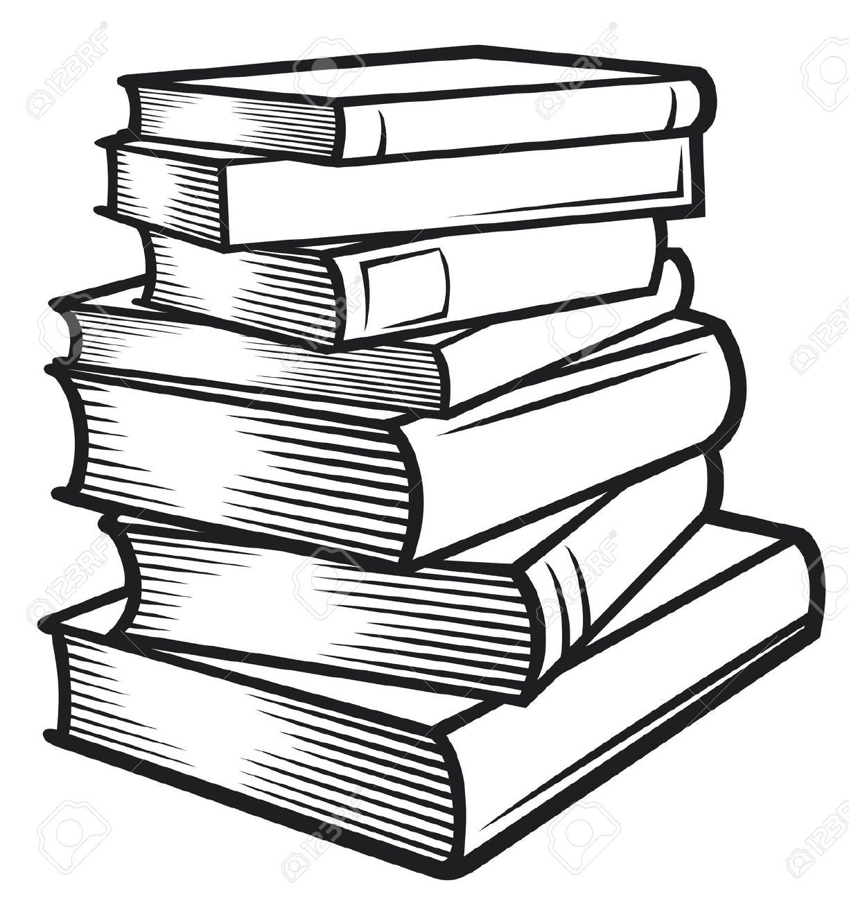 tall stack of books clipart black and white | bullet journals