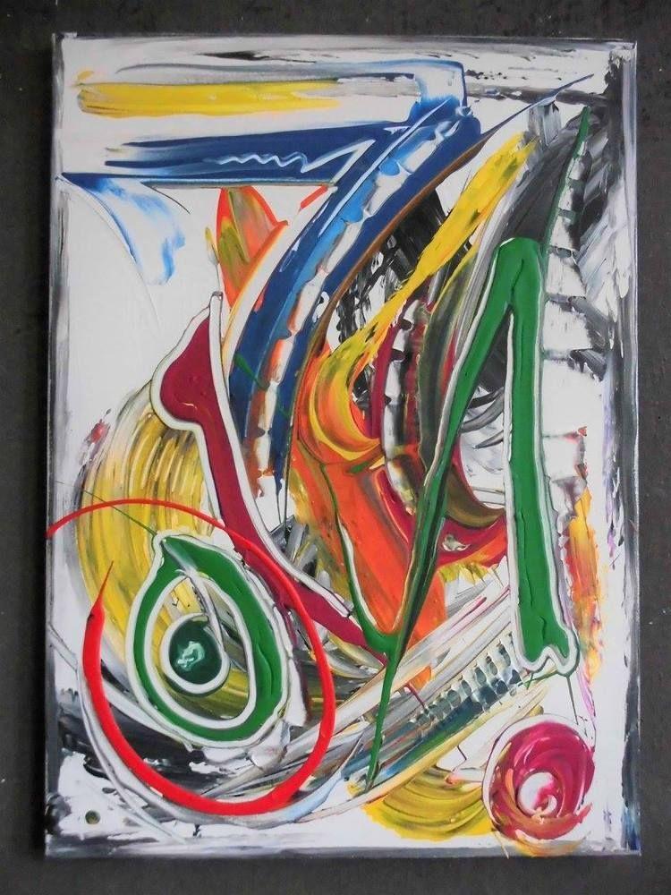 Bild abstrakt Acryl Bilder modern Gemälde Kunst Original Deko ...