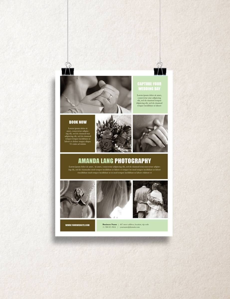 single page pamphlet templates