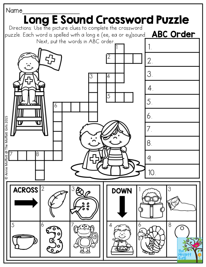 Compound Word Crossword Puzzle The Summer Review NO PREP Packet - Us map crosswords scholastic professional books answers