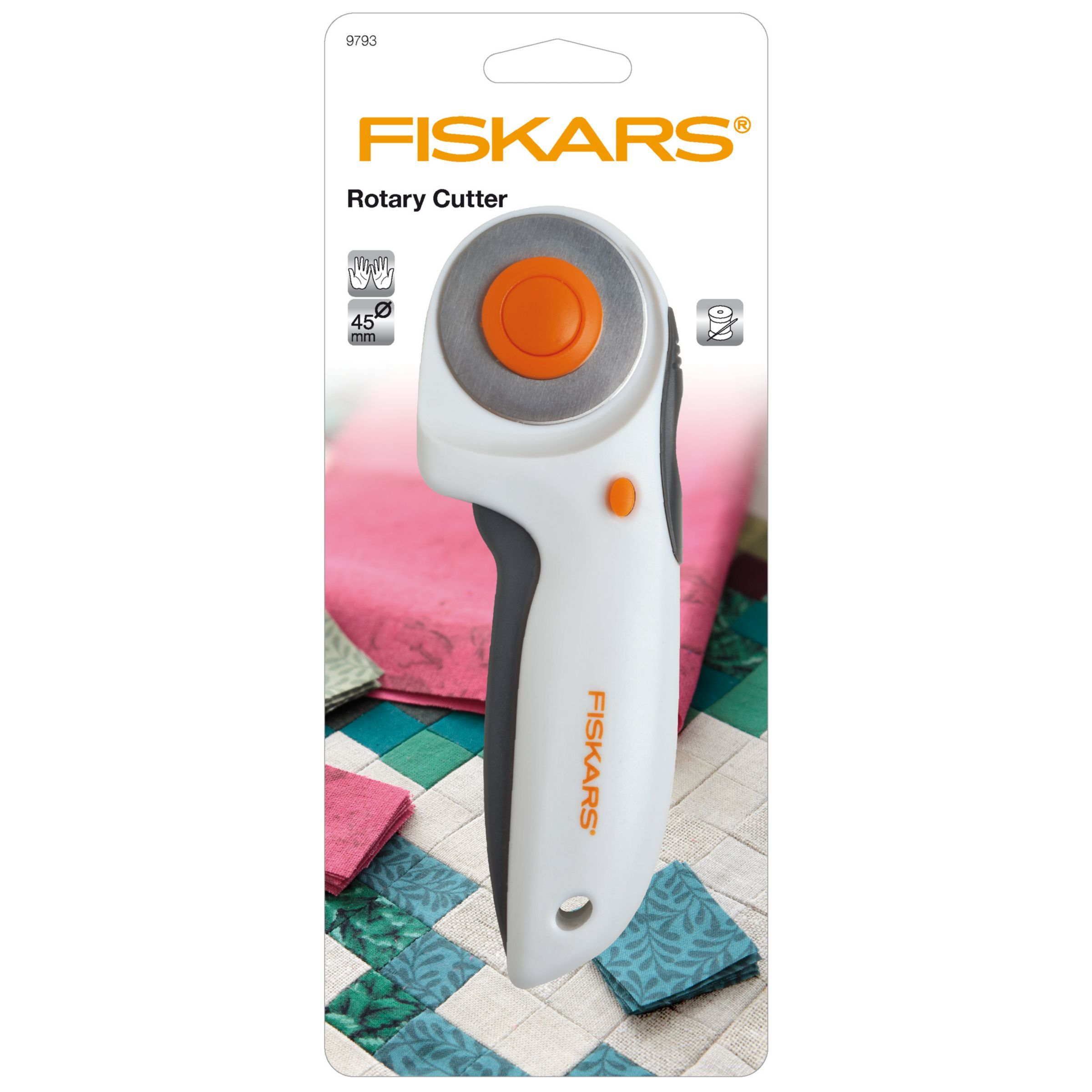 Fiskars Comfort Grip Rotary Cutter Right or Left Hand Sewing Quilting NEW