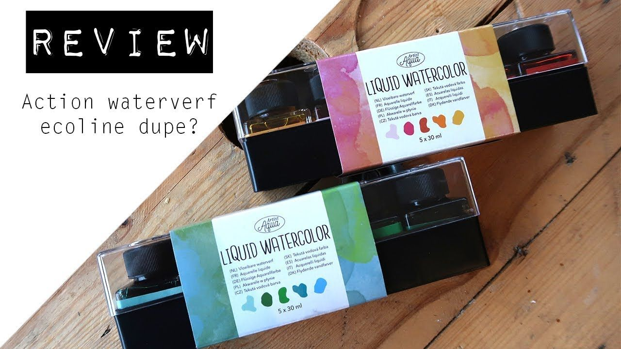 Review Action Waterverf Ecoline Dupe Aquarell Malen