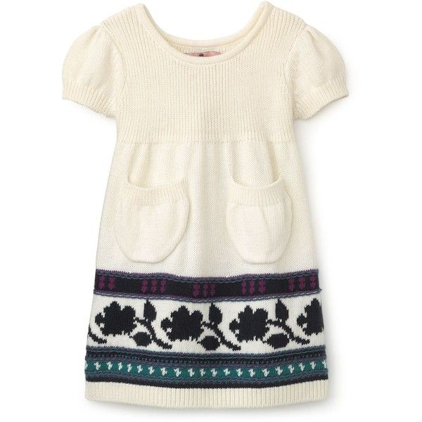 Juicy Couture Girls' Short Puff Sleeve Fair Isle Sweater Dress ...