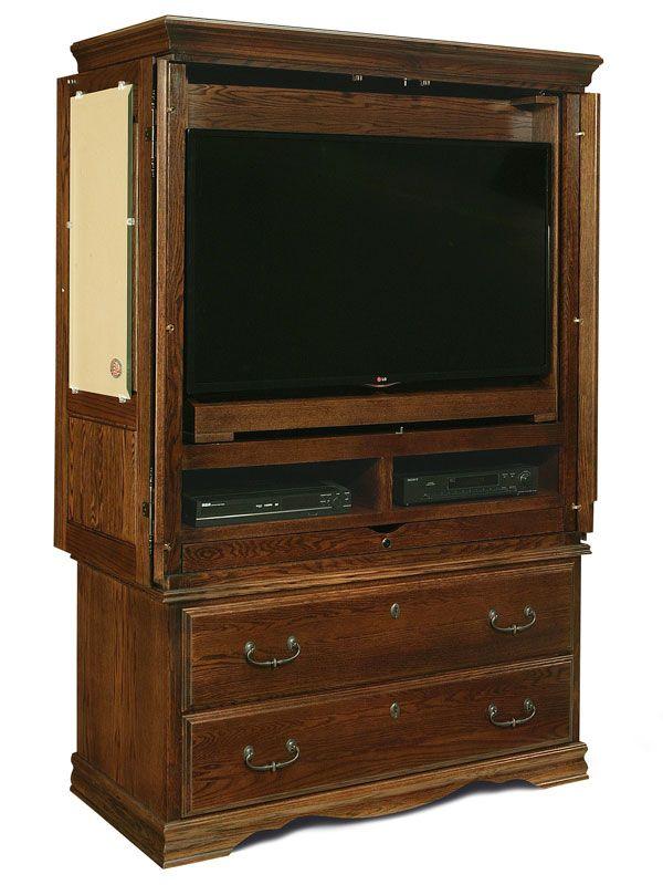 Bedroom Furniture Flat Screen Tv Armoire American Made Tv