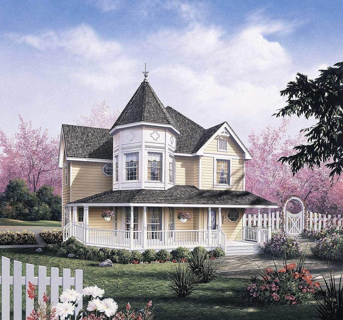 Dramatic Layout Created By Victorian Turret Victorian House
