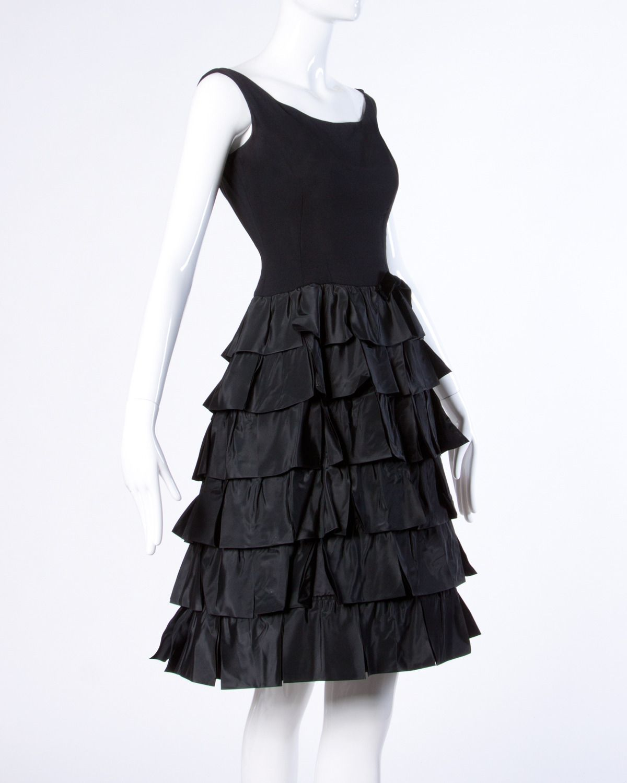 Vintage s s black tiered