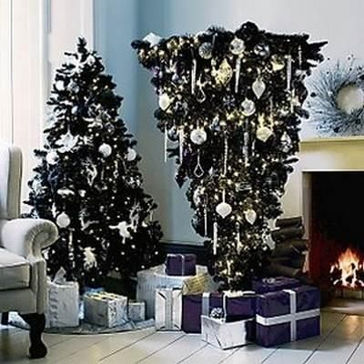 Upside Down Christmas Tree Origin.Standing Upside Down Alternative Christmas Trees Reflecting