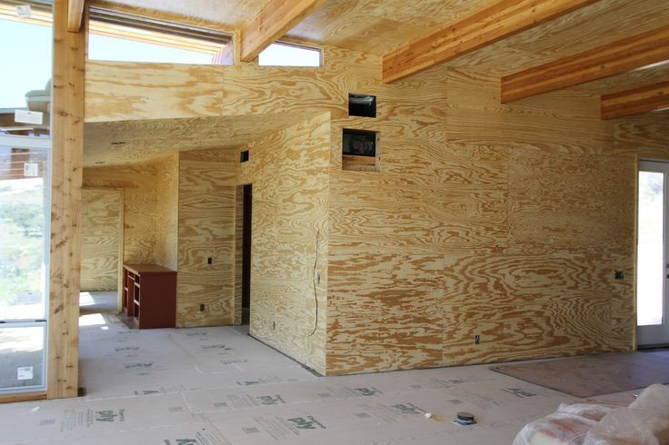 Plywood House Design With Walls Brushy Top Kitchen Cabinets