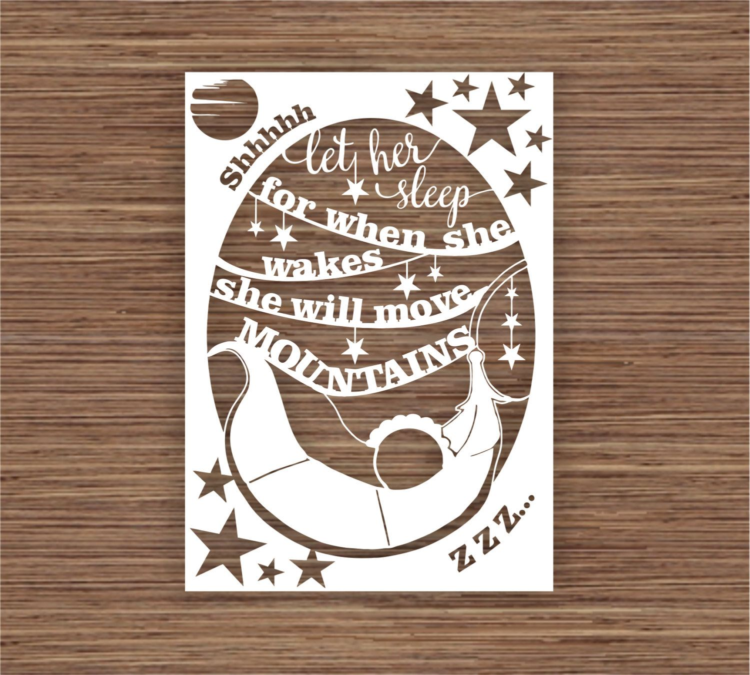 let her sleep Print when wakes moves mountains quote a4 gloss gift UNFRAMED