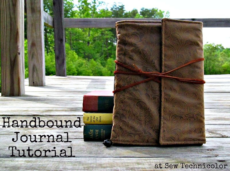 TUTO Sew Technicolor: Handbound (Faux Leather) Journal Tutorial: Part 1,2,3
