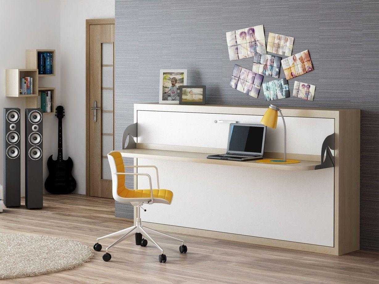 Schrankbett Wandbett Singlo Horizontal Desk Mit Schreibtisch Schrankbett Klappbett Schreibtisch Wandbett