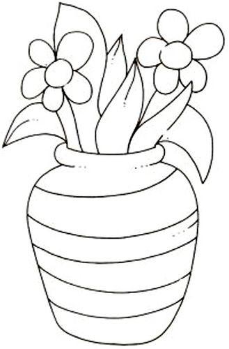 Vaso Flor Paginas Para Colorir Desenho De Vasos De Flores Te