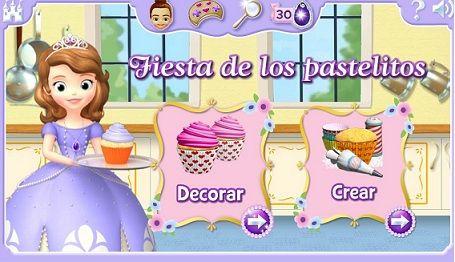 Juego De Princesa Sofía Crea Y Decora Pasteles Todo