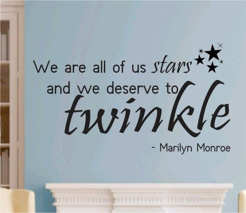 10個英文書法刺青貼 Quotes Words Tattoo Sticker 2 0 三送一: We Are All Of Us Stars Quote Marilyn Monroe Wall Decal Sticker Teen Love Girl Room Decor Words Tattoo