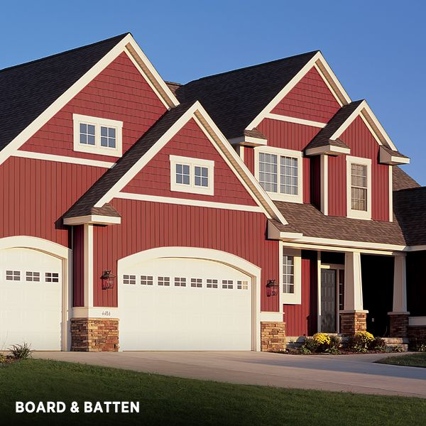 Exterior Siding Design: Mix Vertical Siding With Shakes