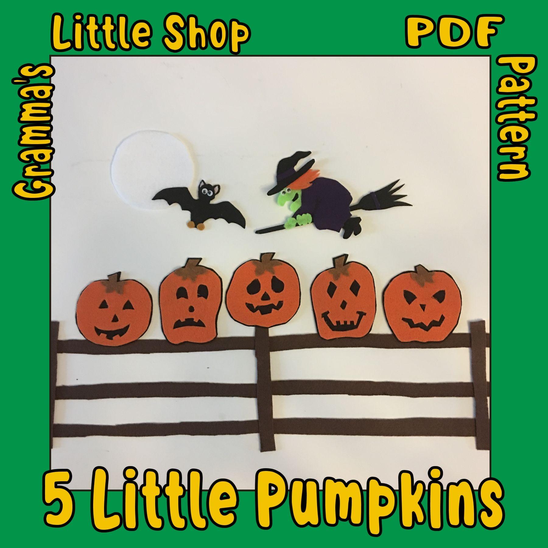 5 Little Pumpkins Pattern For Felt Story