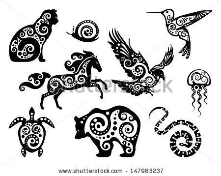 Easy Line Drawings Of Animals : Animal design silhouette set by okarina via shutterstock body