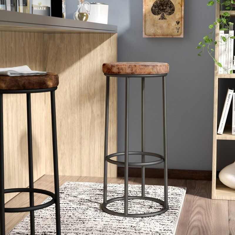 Vintage Style Industrial Bar Counter Stool Leather Seat Restaurant Bar Stools Bar Stools Bar Stools For Sale Metal Bar Stools
