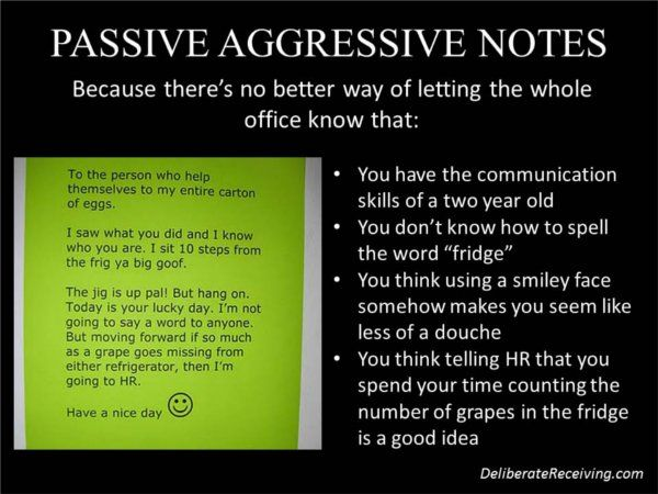 How to disarm a passive aggressive person