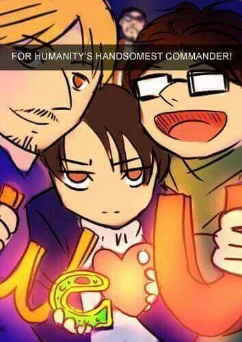 Erwin's birthday ( PART 9) | Attack on titan comic, Attack on titan funny, Attack on titan