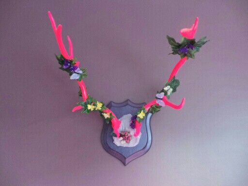 Antlers pink spring deco by Wild@Heart