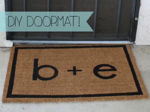 Just A Darling Life diy. personalized doormat & Just A Darling Life: diy. personalized doormat | [craft ...