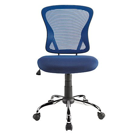 brenton studio task chair folding chairs near me mesh mid back navy blue black monroe blueblack by office depot officemax