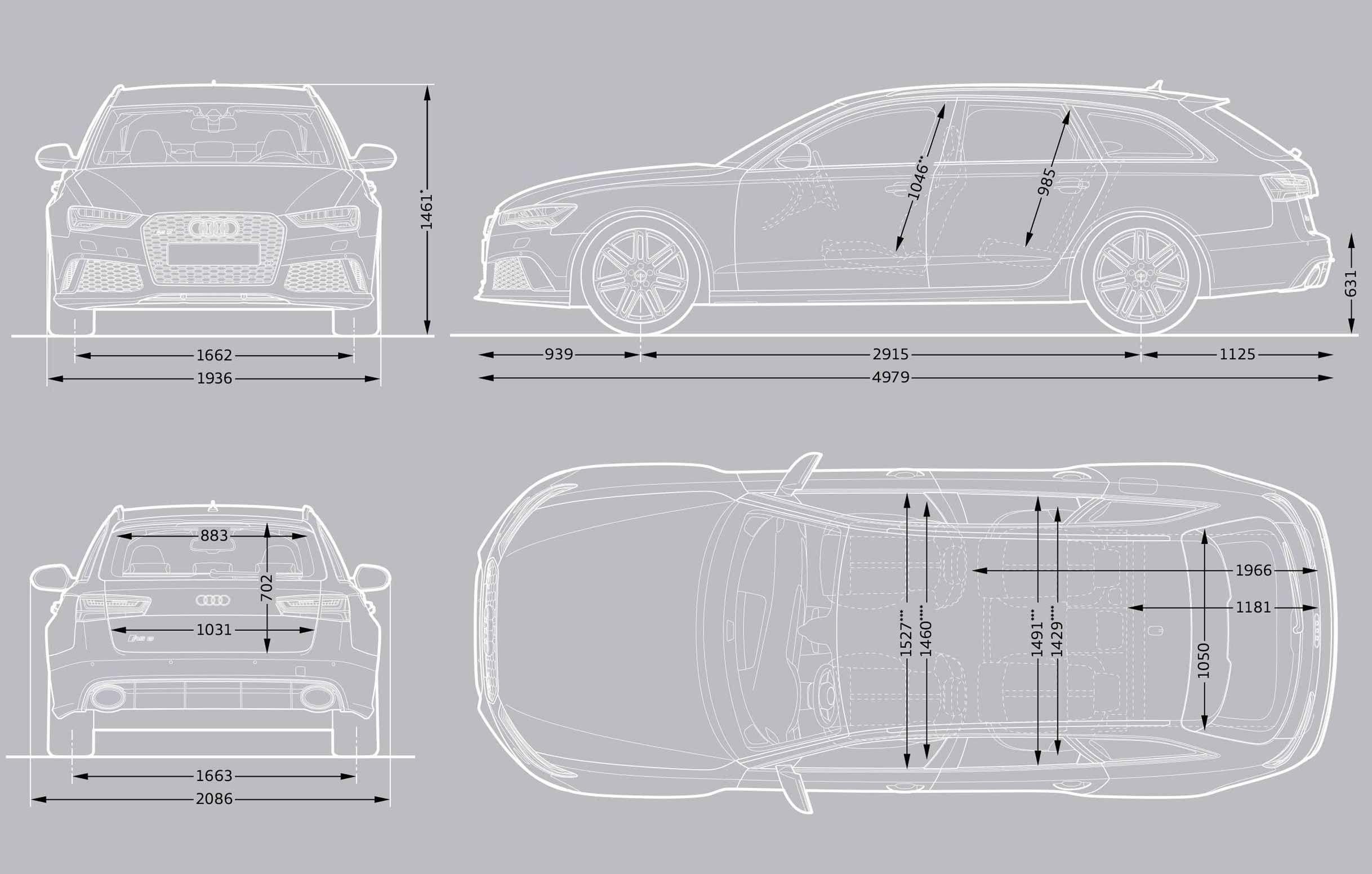 Audi Rs 6 Avant Dimensions